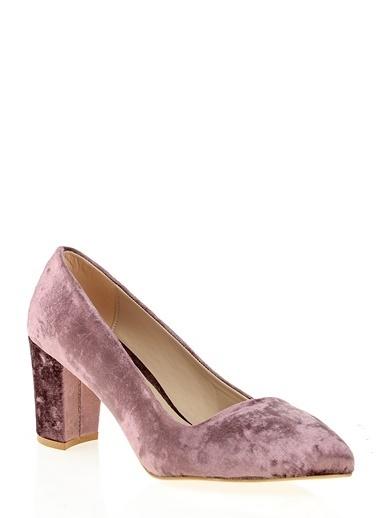 Derigo Kalın Topuklu Ayakkabı Pudra